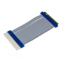 flexkarte großhandel-Großhandels- Zuverlässige 32 Bit Flexible PCI Riser-Karte Extender Flex Extension Ribbon Kabel PCI Stecker auf weibliche Riser-Karte Extender