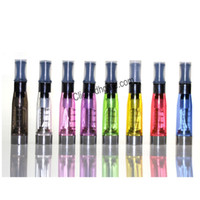 Wholesale Ce4 Leak - CE4 Atomizer 1.6ml 2.4ohm 4 Wicks 7 Colors No leaking Tank 510 thread for Ego t EVOD Twist Vision Vaporizer