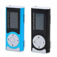 Wholesale Portable Mini Lcd Speaker - Wholesale Mini 1.3 Inch LCD Display Clip Type Portable MP3 Player Support TF Card Flashlight With Speaker Function
