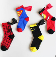 Wholesale Hero Costumes For Boys - 2017 The Newest Style Superhero Cartoon Children Teenager Stage Performance Middle Stockings For Kids Boys Girls 4-6 Years