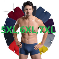 Wholesale Mens Modal Underwear Pants - 5XL,6XL,7XL Men's breathable plus size underwear mens pants shorts print boxer shorts for men 95%bamboo fiber 5Pcs LOT