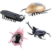 Wholesale Solar Multiped - Wholesale-4-in-1 Children Solar Powered Playing Learning Toys Leadbug Beetles Multiped Scarab Insects DIY Solar Robot