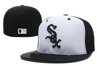 Wholesale Baseball Cap Hat Embroidery - 2017 New Chicago White Sox Embroidery Logo Fitted Hats Men Women Structured Fit Classic Sport Baseball Cap