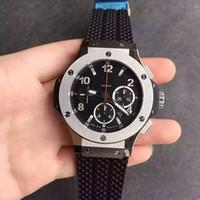 мужские наручные часы v6 оптовых-44мм HBB V6 4100 автоматический хронограф хронограф работает сапфировое мужчины часы водонепроницаемые наручные часы безель керамическая углерода титана