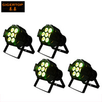 Wholesale Mini Par Can - High Quality 4pcs lot 7x10W 4IN1 DMX Par Light DMX 512,7CH RGBW Led Par 36 Cans Quad Small Led Par Light,90V-240V Mini size TP-P50