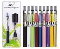Wholesale E Cigarette Gold Clearomizer - Ego starter kit CE4 atomizer Electronic cigarette e cig kit 650mah 900mah 1100mah EGO-T battery blister case Clearomizer E-cigarette Dhl