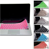 Wholesale Macbook Air Soft Cover - Laptop Soft Silicone Colorful KeyBoard Case Protector Cover Skin For MacBook Pro Air Retina 11 12 13 15 Waterproof Dustproof Retail box OEM