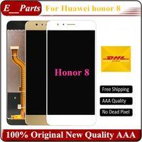 accesorios de honor huawei al por mayor-Honor 8 Pantalla LCD + Panel táctil de pantalla digitalizador accesorios para Huawei Honor 8 5.2 pulgadas Smartphone envío gratis rápido