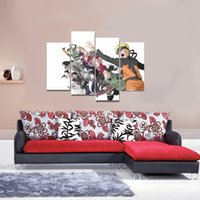 Wholesale 4pcs set Unframed Naruto Young Combat Team Anime Poster Print On Canvas Wall Art Picture For Home and Living Room Decor