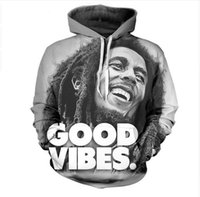 Wholesale Bob Marley Shorts - Newest Fashion Womens Mens Bob Marley Funny 3D Print Casual Crewneck Hoodies Plus Size LMS00015