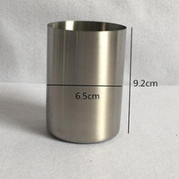 Wholesale Gargle Cup - Stainless Steel Gargle Cup Multi Function Smooth Mug High Quality Hot Sell Straight Barrel Classical For Home 6 5sh R