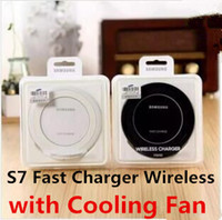Wholesale Cool Fan 5v - 5V 2A Fast Charger Wireless Stand with Cooling Fan for Samsung Galaxy S7 edge S6 edge S6 edge Plus QI Wireless Quick Charging Dock Holder