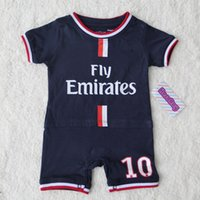 Wholesale Tutu Sizes For Kids - 16 17 kids baby red home away blue soccer romper 2017 Ibrahimovic child youth Football jumpsuit for infant baby 0-12M