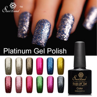 All'ingrosso-Saviland 1pcs gel brillante glitter Platinum LED UV lacca 3D Vernice unghie gel Nail Polish Primer Top base di gel per unghie