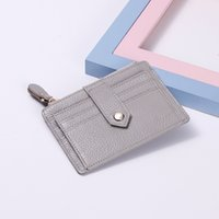 Wholesale pink money clips - 2017 Hot Selling! Genuine Leather Bank Card Holder Money Clip Mini Coin Purse Design European And American 1PCS Free Shipping
