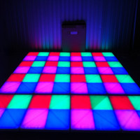 ingrosso rgb ha portato i pavimenti di ballo-RGB LED Dance Floor Panel Dance Dance Floor Stage Light Disco Panel 432pcsX10mm LED Dance Floor Discoteca KTV Light Stage Lighting