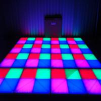 rgb führte tanzböden großhandel-RGB LED Dance Floor Panel Tanzfläche Bühne Licht Disco Panel 432pcsX10mm LED Dance Floor Disco KTV Licht Bühnenbeleuchtung