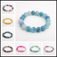 Wholesale Handmade Gemstone Bracelets - New Arrival 7.8~8.5mm Handmade Beaded Weathering Natural Gemstone Round Beads Stretchy Bracelet Yoga Energy Strands