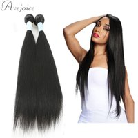 Wholesale Malaysian Virgin Hair Weave 2pcs - Avejoice Grade 8a Virgin Hair Straightener Brazilian Malaysian Peruvian Indian Hair Weave Cheap Straight Human Hair Bundles 2PCS Per Lot