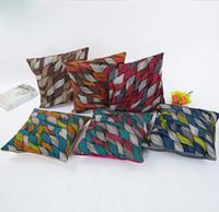 almohadas de la multitud al por mayor-Europa sensaciones amorosas funda de almohada abstracta Lino flocado funda de almohada clásica Impresión tridimensional funda de cojín patrón