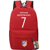 Wholesale backpack colorful - Antoine Griezmann backpack Colorful printing daypack Best star schoolbag Football rucksack Sport school bag Outdoor day pack