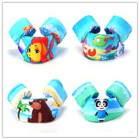 Wholesale Child Panda Jacket - Kids cartoon life-vest jumper life jacket cute crab panda bear fish patterns lifejacket for children 2-7T 10-30kg