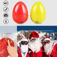 Wholesale Wireless Button Camera Usb - EGG Bluetooth Wireless Speaker for Christmas Gifts Mini Music Player Outdoor Speaker TWS Bluetooth Speaker with Remote Camera MIS172