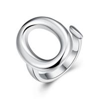 bijoux fantaisie achat en gros de-Livraison gratuite En Gros 925 Argent Plaqué Mode O Ouvrir Anneau - Ouverture Jewelrys LKNSPCR008