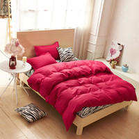 Wholesale Zebra Print Bedding King - Wholesale-New style solid colors and zebra pattern design,3pcs 4 pcs bedding sets bed sheet bedspread duvet cover flat sheet  pillowcases
