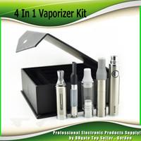 Wholesale Evod Mt3 Tanks - EVOD MT3 4 In 1 Vaporizer kits 650mAh 900mAh 1100mAh Battery Black atomizer skillet glass CE3 wax dry herb 4in1 tank Vape Pen Kit 0209637