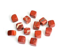 Wholesale Inlay Cube - 1 2 lb Bulk Natural Tumbled Red Jasper Carved Cube Crystal Reiki Healing Semi-precious Stones with a Free Pouch