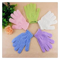 Wholesale Cleaning Towel Price - Five Fingers Bath Gloves Exfoliating Bath Glove Best Price Cleaning Towel Bathing Supplies Products Health Brushes Free Shipping