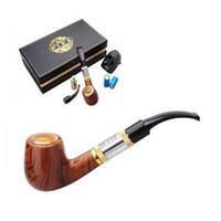 Wholesale E Cigs Pipes - Top quality E Pipe 618 e cigarettes starter kit e cigs healthy smoking pipe style two 18350 battery dry herb Vaporizer vape mod