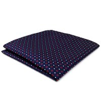 Wholesale navy pocket squares for sale - CH24 Navy Red White Dots Mens Pocket Square Silk Wedding Classic Handkerchief Brand New Accessory Hanky