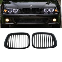 Wholesale Bmw E39 Grille - Front Matte Black Kidney Grilles Grill For BMW E39 5-Series 525 530 540 M5 1997-2003