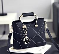 Wholesale Korean Models Bags - 2017 new models of women's Korean version of the sweet bag fashion handbags handbag Messenger Messenger wholesale