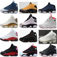 Wholesale Rubbers Get Blue - air retro 13 man basketball shoes Low Chutney Navy blue Pure Money Chicago black cat DMP Flint He Got Game Playoffs Barons Sneakers