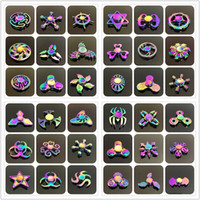 Wholesale Type Spinners - Retail 48 types Fidget spinner toys Rainbow Fidget Metal Hand Colorful EDC Gyro Toys HandSpinner Aluminum spinners finger top spinning Toy