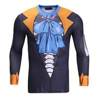 Wholesale S Advanced - Advanced 3D Male Print Compression Shirt Slim Fit Skins Tight Long Sleeve Men Bodybuilding Crossfit T-shirt Tights Brand S~3XL BL-054