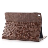 Wholesale Ipad Cover Leather Crocodile - Wholesale-New Arrival Slim Crocodile Leather Case Smart Cover for iPad Pro, Stand Cover with Card Slot Case for iPad Pro 12.9""