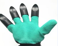 Wholesale plastic thorns for sale - Group buy Garden Genie Gloves With Claws OPP BAG easy way to Garden Digging Planting Gloves Waterproof Resistant To Thorns