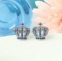 ingrosso gemelli europei-Europa e Stati Uniti New Crown Cufflinks Inlaid Rhinestones Sleeve Nails