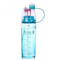 ücretsiz su şişesi tasarımı toptan satış-Yeni Tasarım 600 ML 400 ML Spor Sprey Su Şişesi Çift kullanımlı Su Moda Plastik Bardaklar Için Bpa Ücretsiz Şişe