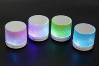 2.1 sport textures - 2016 hotsale Mini portable sport crackle texture Bluetooth Speaker with LED light can insert U disc mobile phone player with data line
