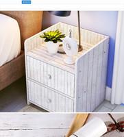 ingrosso adesivi in legno da parati-Carta da parati autoadesiva del PVC del grano del legno dell'Europa Europa Armadio rinnovato Porta dell'armadio Adesivi murali della mobilia del desktop Decorazioni per la casa