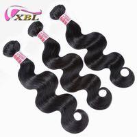 Wholesale human hair extensions 26 set for sale - Group buy XBL Body Wave Human Hair Extension Virgin Peruvian Human Hair Bundles Pieces One Set