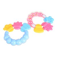 Wholesale Product Safety For Baby - Wholesale- BOHS 1Pcs Lovely Baby Bell Toy Product Cute Teeth Training Molar Safety Teether For Kids Chewing Practicing