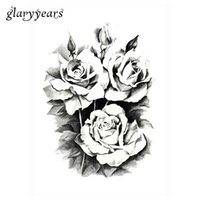Wholesale Water Decals Rose - Wholesale- 2016 1 Sheet Women Rose Flower Decal Tattoo KM-101 Water Transfer Waterproof Temporary Tattoo Sticker for Beauty Body Makeup Art