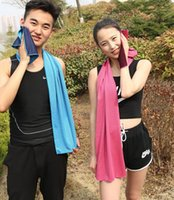 Wholesale towels packaging - Ice Cool Towel Cooling Towel Cold Sports Washrag Drying Towels cans package Summer Sports Cycling towel KKA1845