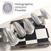 2g / Box Новые 14 цветов Зеркало Блеск для ногтей Shinning Dust Nail Art DIY Chrome Pigment Nail Decoration Tools